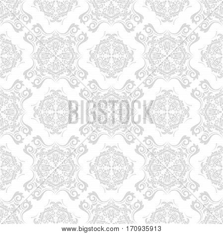 Elegant classic pattern. Seamless abstract background with repeating elements. Light silver pattern