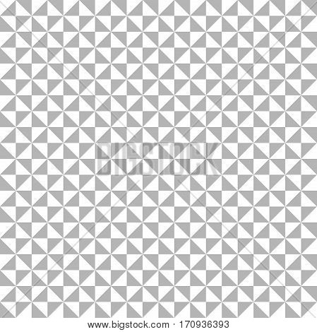 Geometric pattern with gray and white triangles. Seamless abstract background
