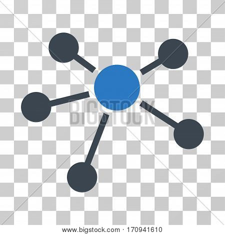 Connections icon. Vector illustration style is flat iconic bicolor symbol smooth blue colors transparent background. Designed for web and software interfaces.