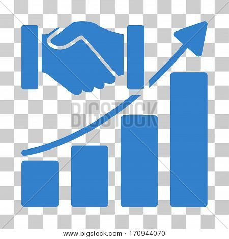 Acquisition Growth icon. Vector illustration style is flat iconic symbol cobalt color transparent background. Designed for web and software interfaces.