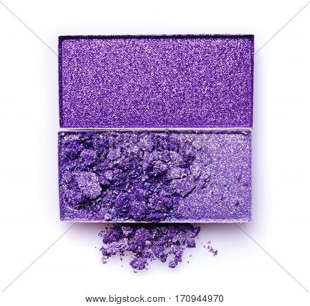 Purple Crashed Eyeshadow For Makeup As Sample Of Cosmetic Product