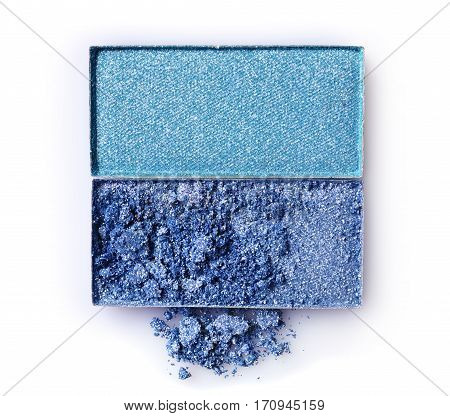 Blue Crushed Eyeshadow For Makeup As Sample Of Cosmetic Product
