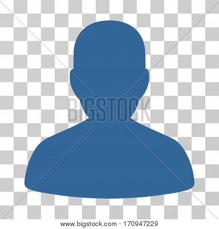 User Account icon. Vector illustration style is flat iconic symbol cobalt color transparent background. Designed for web and software interfaces.
