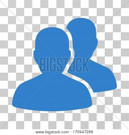 User Accounts icon. Vector illustration style is flat iconic symbol cobalt color transparent background. Designed for web and software interfaces.