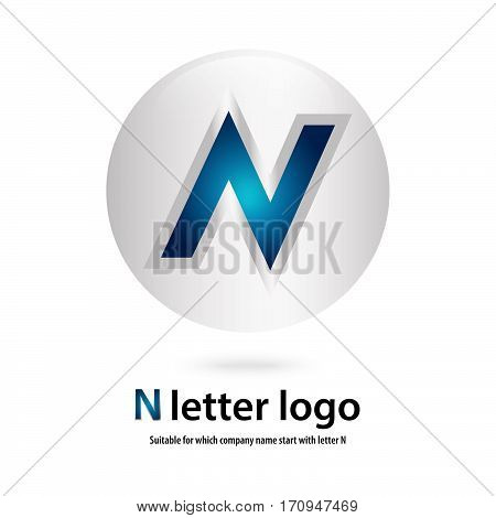 3d circle  n letter logo 100% vector fully editable and re sizable suitable  for which letter is beginning with letter n