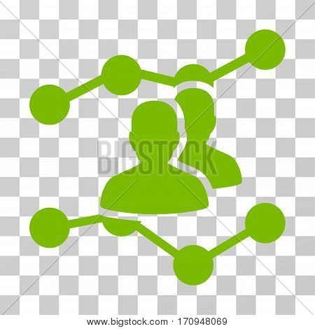 Audience Trends icon. Vector illustration style is flat iconic symbol eco green color transparent background. Designed for web and software interfaces.