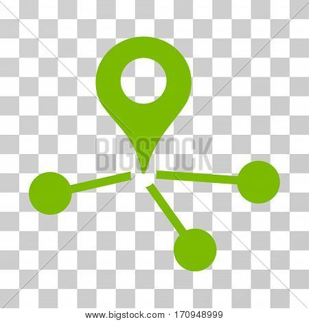 Geo Network icon. Vector illustration style is flat iconic symbol eco green color transparent background. Designed for web and software interfaces.