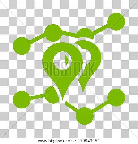 Geo Trends icon. Vector illustration style is flat iconic symbol eco green color transparent background. Designed for web and software interfaces.