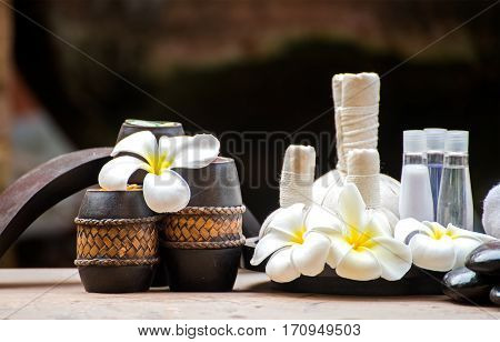 Spa massage compress balls herbal ball and treatment spa Thailand select focus