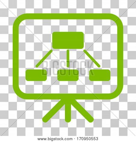 Scheme Demonstration Screen icon. Vector illustration style is flat iconic symbol eco green color transparent background. Designed for web and software interfaces.