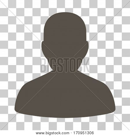 User Account icon. Vector illustration style is flat iconic symbol grey color transparent background. Designed for web and software interfaces.
