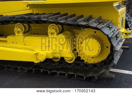 big truck of the large construction vehicle
