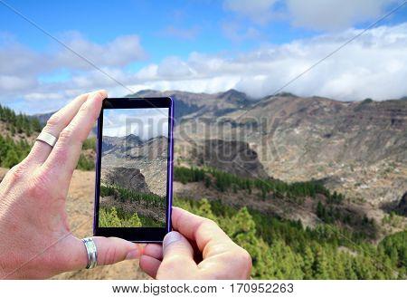 Shooting Gran Canaria Mountains