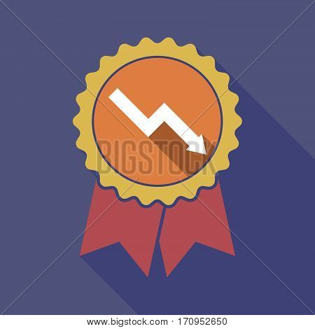 Long Shadow Badge With A Descending Graph