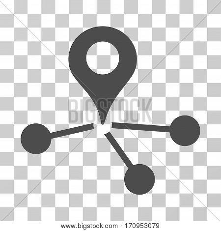 Geo Network icon. Vector illustration style is flat iconic symbol gray color transparent background. Designed for web and software interfaces.