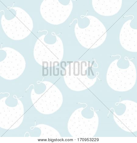 delicate childish background with bib in vector format