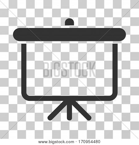 Projection Board icon. Vector illustration style is flat iconic symbol gray color transparent background. Designed for web and software interfaces.