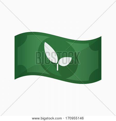 Isolated Bank Note With A Plant