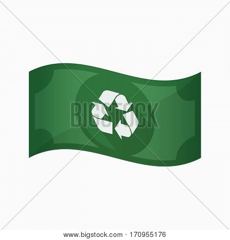 Isolated Bank Note With A Recycle Sign