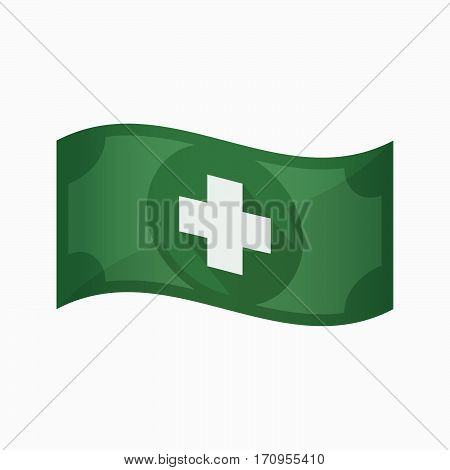 Isolated Bank Note With A Pharmacy Sign