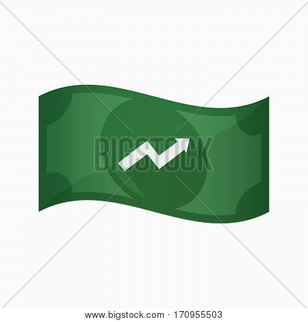 Isolated Bank Note With A Graph