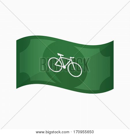 Isolated Bank Note With A Bicycle