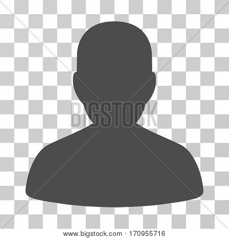 User Account icon. Vector illustration style is flat iconic symbol gray color transparent background. Designed for web and software interfaces.