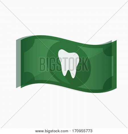 Isolated Bank Note With A Tooth