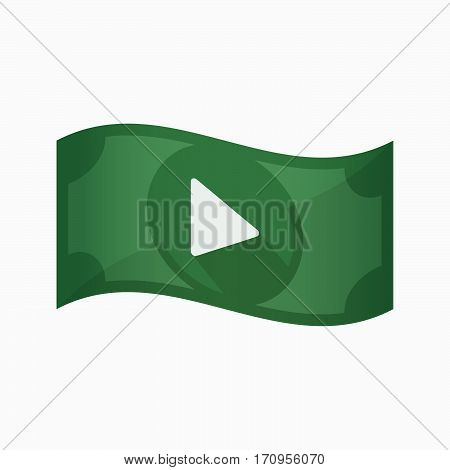 Isolated Bank Note With A Play Sign