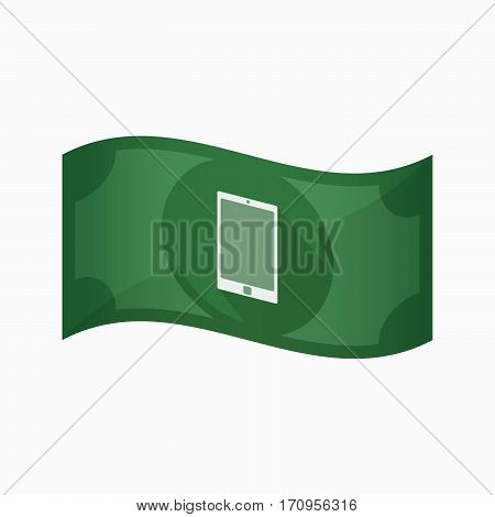 Isolated Bank Note With A Smart Phone