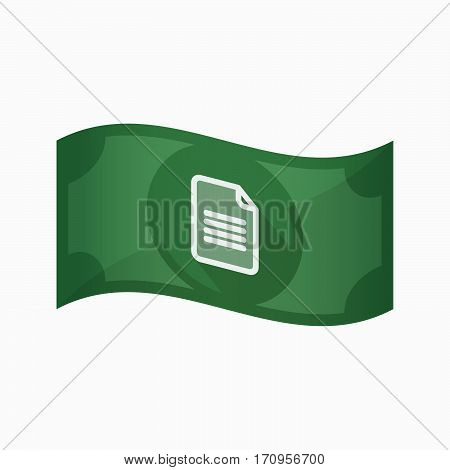 Isolated Bank Note With A Document