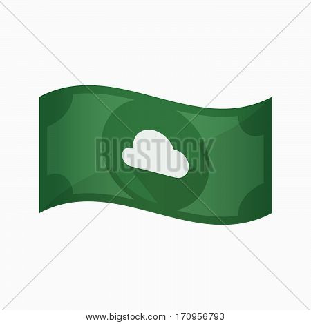 Isolated Bank Note With A Cloud
