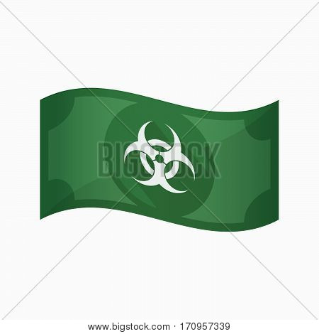 Isolated Bank Note With A Biohazard Sign