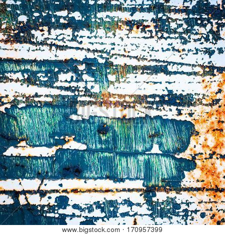grunge texture background. rusty metal with cracked paint. distressed surface.