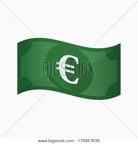 Isolated Bank Note With An Euro Sign