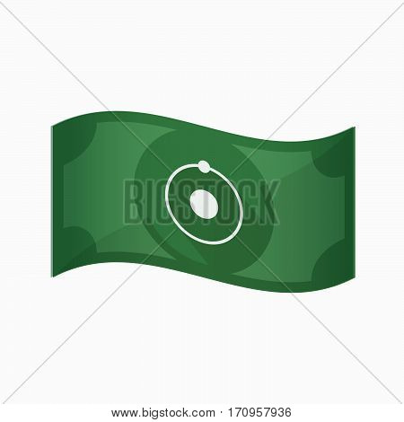 Isolated Bank Note With An Atom