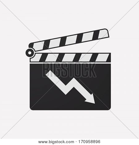 Isolated Clapper Board With A Descending Graph