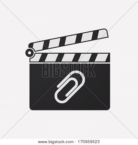 Isolated Clapper Board With A Clip