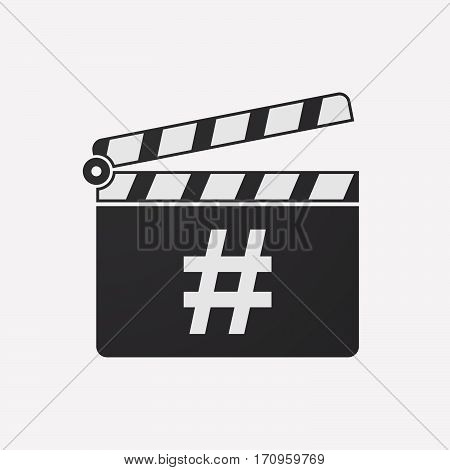 Isolated Clapper Board With A Hash Tag
