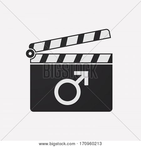 Isolated Clapper Board With A Male Sign