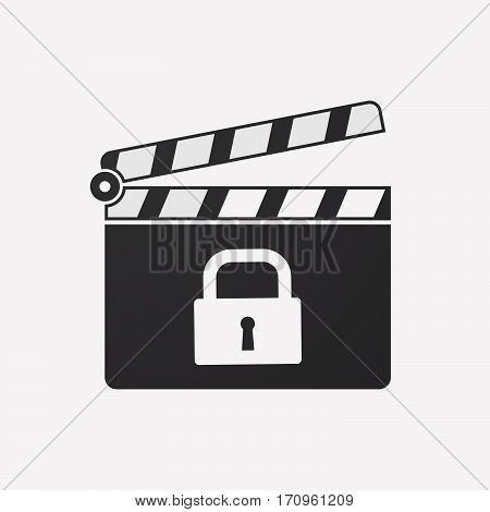 Isolated Clapper Board With A Heart Beat Sign