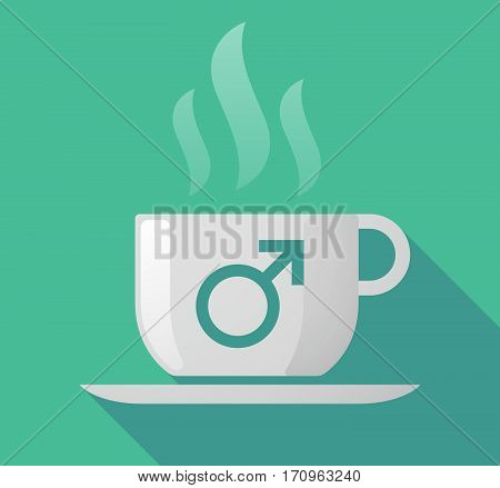 Long Shadow Mug With A Male Sign
