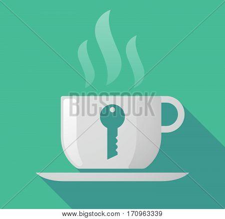 Long Shadow Mug With A Key