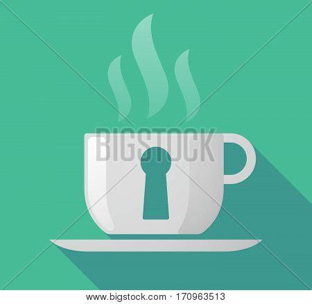 Long Shadow Mug With A Key Hole