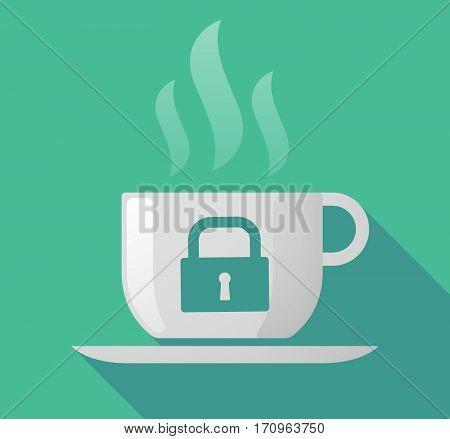 Long Shadow Mug With A Closed Lock Pad