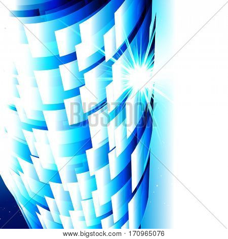 Abstract technology blue background, techno digital design.