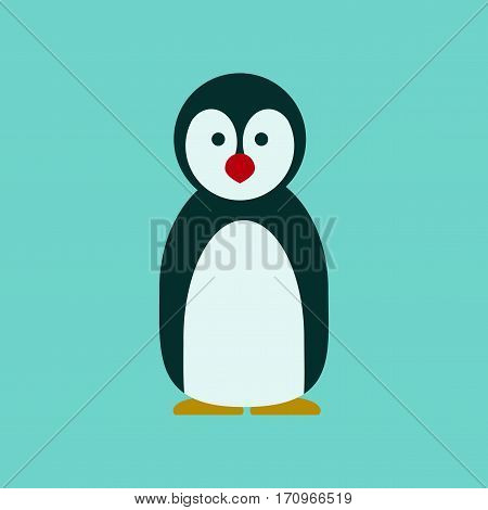 flat icon on stylish background Emperor penguins