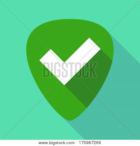 Long Shadow Guitar Pick With A Check Mark