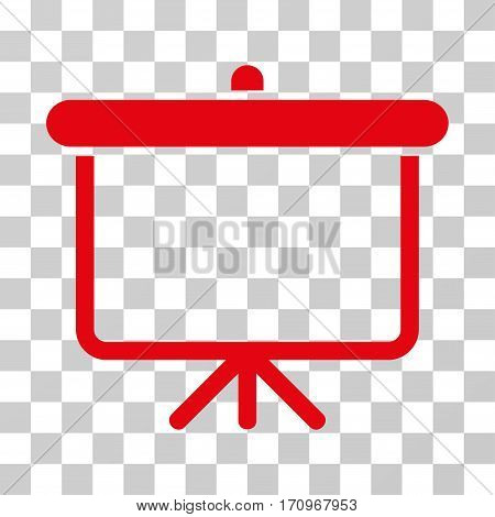 Projection Board icon. Vector illustration style is flat iconic symbol red color transparent background. Designed for web and software interfaces.