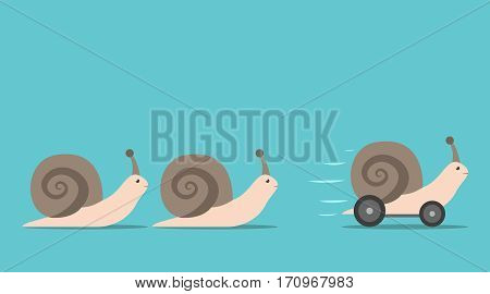 Unique Snail With Wheels